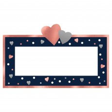 Bridal Shower Party Supplies - Navy Bride Folded Place Cards