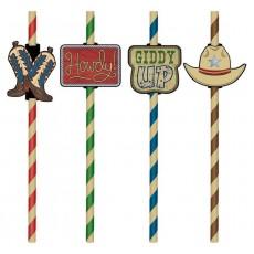 Cowboy & Western Add-Ons Straws