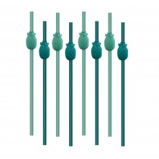 Key West Molded Pineapple Plastic Straws