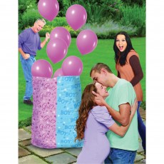 Gender Reveal Party Supplies - Girl Balloon Sack Latex Balloons Ribbons