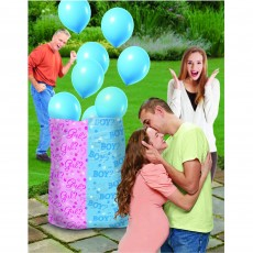Gender Reveal Party Supplies - Boy Balloon Sack Latex Balloons Ribbons