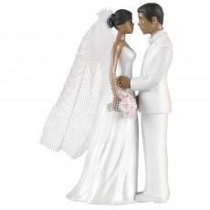 Wedding African American Bride & Groom Cake Topper