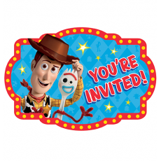 Toy Story 4 Postcard Invitations