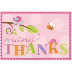 Tweet Baby Girl Thank You Cards