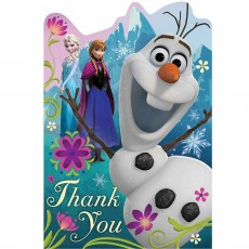 Disney Frozen Postcard Thank You Cards 16cm Pack of 8