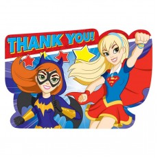 Super Hero Girls Party Supplies - Thank You Cards