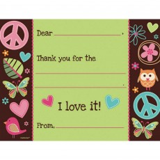 Hippie Chick Thank You Cards