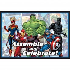Avengers Party Supplies - Invitations Marvel Powers Unite Postcard