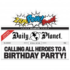 Justice League Party Supplies - Favours Heroes Unite Deluxe