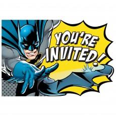 Batman Party Supplies - Invitations Heroes Unite