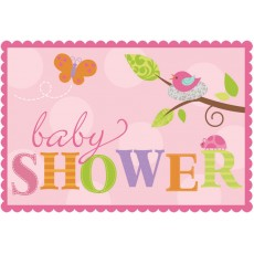 Tweet Baby Girl Postcard Invitations