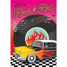 Rock n Roll Classic 50's Postcard Invitations Pack of 8