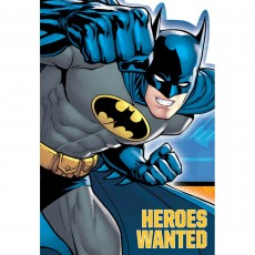Batman Heroes Wanted Invitations