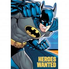 Batman Postcard Invitations Pack of 8