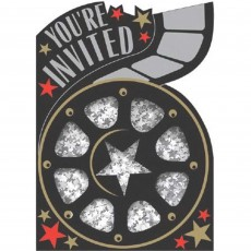 Hollywood Razzle Dazzle Invitations Pack of 8