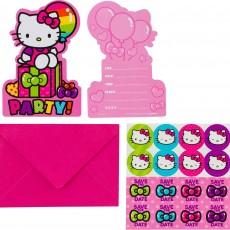 Hello Kitty Rainbow Postcard Invitations Pack of 8