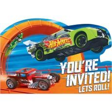 Hot Wheels Wild Racer Postcard Invitations 11cm Pack of 8