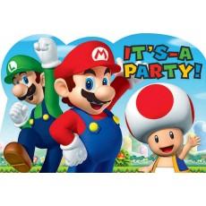 Super Mario Postcard Invitations