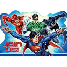 Justice League Join Us Invitations