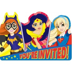 Super Hero Girls Postcard Invitations