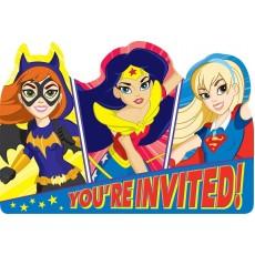 Super Hero Girls You're Invited Invitations