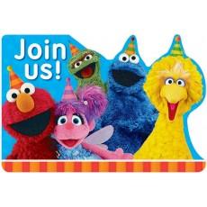 Sesame Street Postcard Join Us! Invitations Pack of 8
