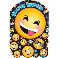 Emoji LOL Postcard Invitations