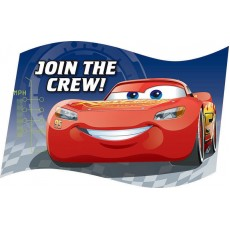 Disney Cars 3 Postcard Join the Crew! Invitations Pack of 8
