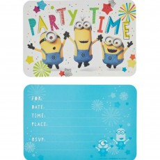 Minions Despicable Me Postcard Invitations Pack of 8