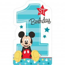 Mickey Mouse 1st Birthday Fun To Be One Postcard Invitations