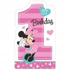 Minnie Mouse 1st Birthday Fun To Be One Postcard Invitations