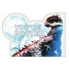 Jurassic World Postcard Invitations Pack of 8