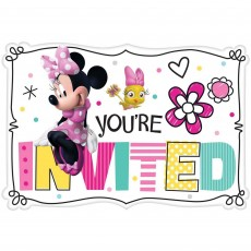 Minnie Mouse Happy Helpers Postcard Invitations 11cm Pack of 8