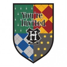 Harry Potter Postcard Invitations Pack of 8