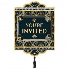 Glitz & Glam Black & Gold  Invitations