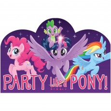 My Little Pony Friendship Adventures Postcard Invitations