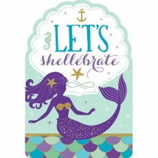 Mermaid Wishes Postcard Invitations