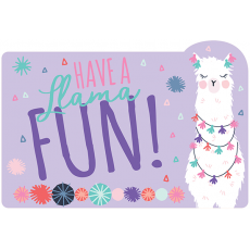 Llama Fun Postcard Invitations