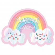 Magical Rainbow Shaped Invitations Pack of 8