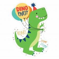 Dinosaur Dino-Mite Postcard Invitations