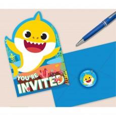 Baby Shark Postcard Invitations