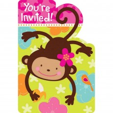 Monkey Love Invitations
