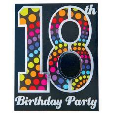 18th Birthday Novelty Large Invitations
