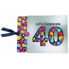 40th Birthday Jumbo Novelty Invitations