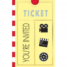 Hollywood Lights! Camera! Action! Invitations