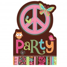 Hippie Chick Postcard Invitations