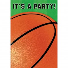 Basketball Fan Folded It's a Party! Invitations 15cm Pack of 8