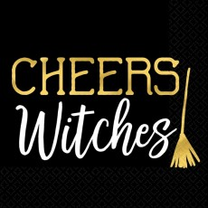 Halloween Party Supplies - Beverage Napkins - Cheers Witches