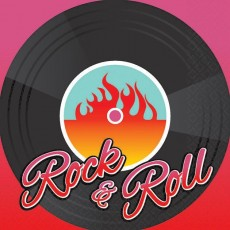 Rock n Roll Classic 50's Beverage Napkins 25cm x 25cm Pack of 16