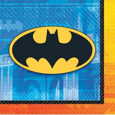 Batman Beverage Napkins 25cm x 25cm Pack of 16